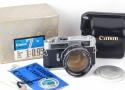 【美品】Canon/キャノン 7 + 50/0.95セット 革ケース、外箱付