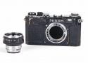 Nikonニコン S2 + 50mm f2 black paint ブラックペイント後期