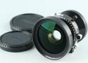 Nikon Nikkor-SW 75mm F/4.5 Lens #26950