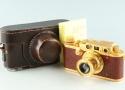 Leica IIIb Gold + Elmar 50mm F/3.5 Lens #30334