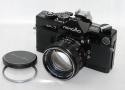 【珍 品】 minolta SR-7 ブラック AUTO ROKKOR-PF 58/1.4付 【純正55mm UVフィルター、アクセサリーシュー付】