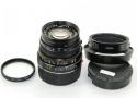 ライカ ズミクロンM 50mm F2 第3世代 【純正フード12585H、E39 UVa 13131フィルター付】