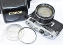 【珍 品】 Canon 7 50/0.95付 【レンズ整備済 純正ケース、72mmSL393Cフィルター付】