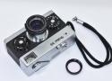 Rollei 35 シルバー 純正ストラップ、マルミ製24mm 1Bフィルター付 【S-Xenar 40/3.5レンズ搭載】