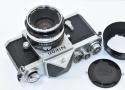 【コレクション向け 珍 品】 Nikon F アイレベル640 NIKKOR-S Auto 5cm F2付 【チックマーク/R刻印入/PAT.PEND最初期 日本光学マーク入りフード、キャップ付】